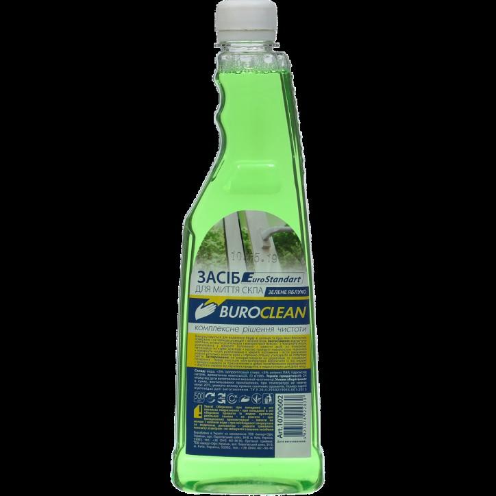 Средство для мытья стекол запасной Buroclean 500 мл зеленое яблоко