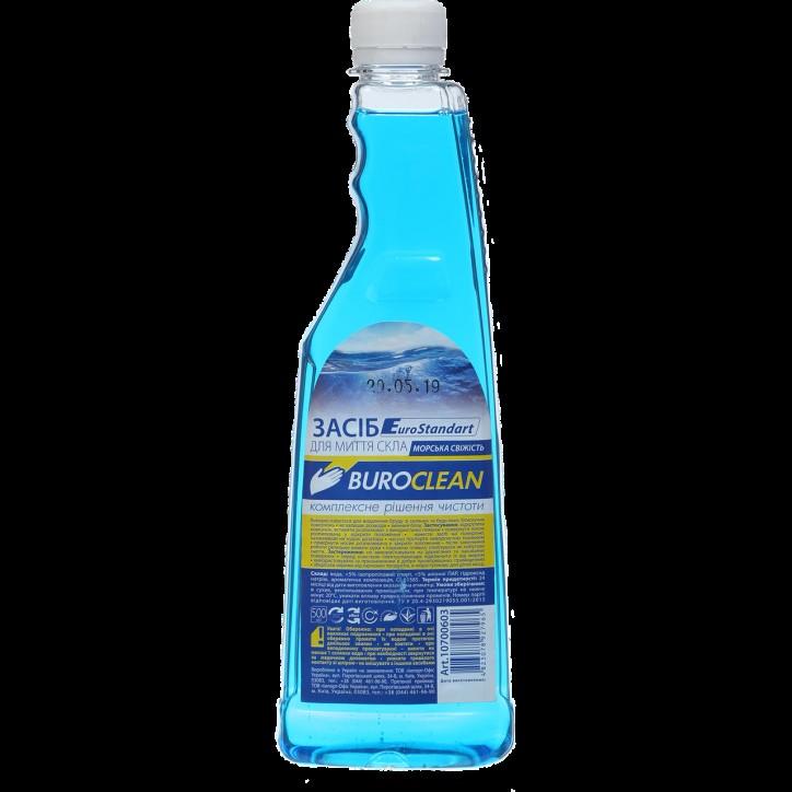 Средство для мытья стекол запасной Buroclean 500 мл морская свежесть