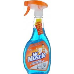 """Средство для чистки стекла """"Мистер Мускул"""" с распылителем, 500 мл, синий"""