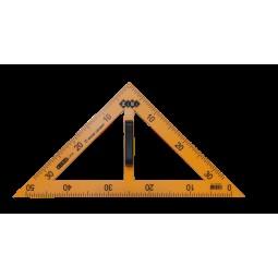 Угольник TEACHER 90°/45° для школьной доски 50 см, желтый, KIDS Line