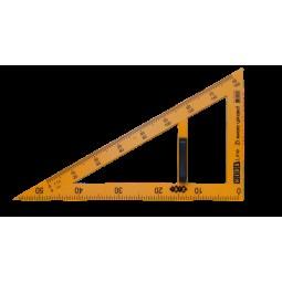 Угольник TEACHER 90°/60° для школьной доски 50 см, желтый, KIDS Line