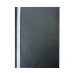 Швидкозшивач пласт. А4(2 отв), PP, чорний