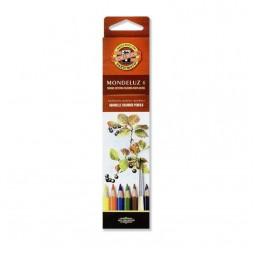 Карандаши цветные аквар.Mondeluz,  6 цв.