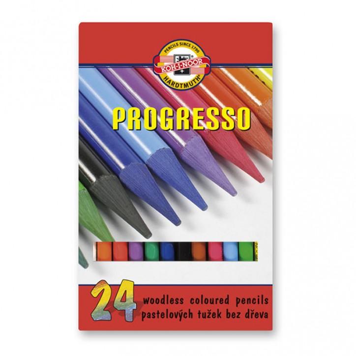 """Карандаши цветные бездревесные """"Progresso"""", 24 шт."""