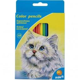 """Карандаши цветные, 18 шт. Kite """"Животные"""""""