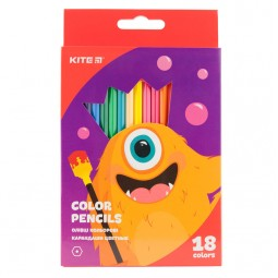 Карандаши цветные, 18 шт. Kite Jolliers