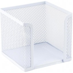 Куб для бумаг 100х100x100мм, метал., белый