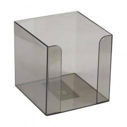 Куб для бумаг 90x90x90 мм, дымчатый