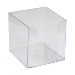Куб для бумаг 90x90x90 мм, прозрачный