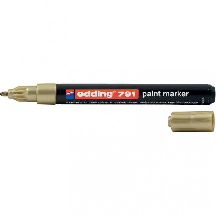 Маркер Paint e-791 1-2 мм круглый золотой