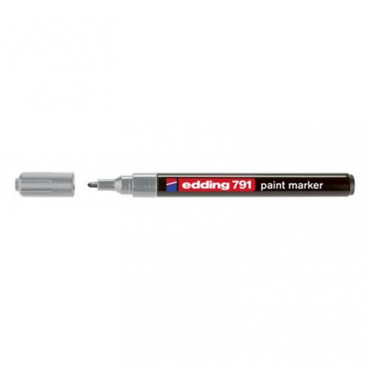 Маркер Paint e-791 1-2 мм круглый серебряный