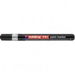 Маркер Paint e-791 1-2 мм круглый чёрный