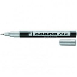 Маркер Paint e-792 0,8 мм тонкий серебряный
