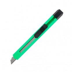 Нож канцелярский, 9мм, зеленый