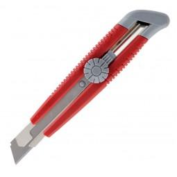 Нож канцелярский, мет. направл., 18 мм, винт. фикс