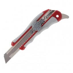 Нож канцелярский, мет. Направл., рез.вставки, 18мм