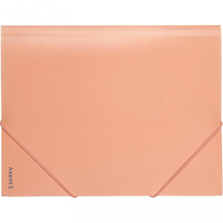 Папка на резинках, А4, Pastelini, персиковая