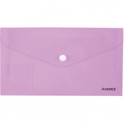 Папка-конверт на кнопке, DL, Pastelini, сиреневая