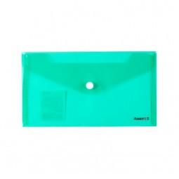 Папка-конверт на кнопке, DL, ассорти.