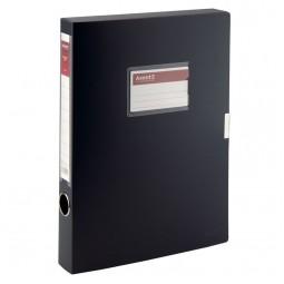 Папка-коробка, 36мм, черная