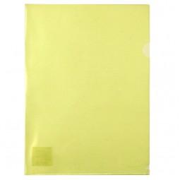 Папка-уголок, A4, желтая
