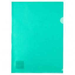 Папка-уголок, A4, зеленая