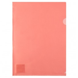 Папка-уголок, A4, красная