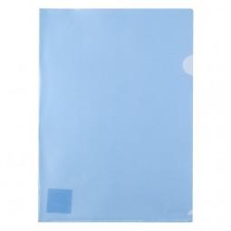 Папка-уголок, A4, синяя
