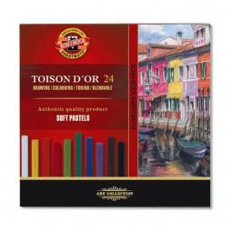 Пастель сухая TOISON D'OR, 24 цвета