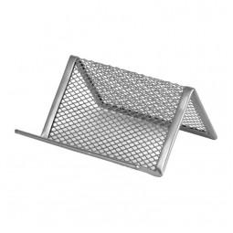 Подставка для визиток 95x80x60мм, метал, серебр
