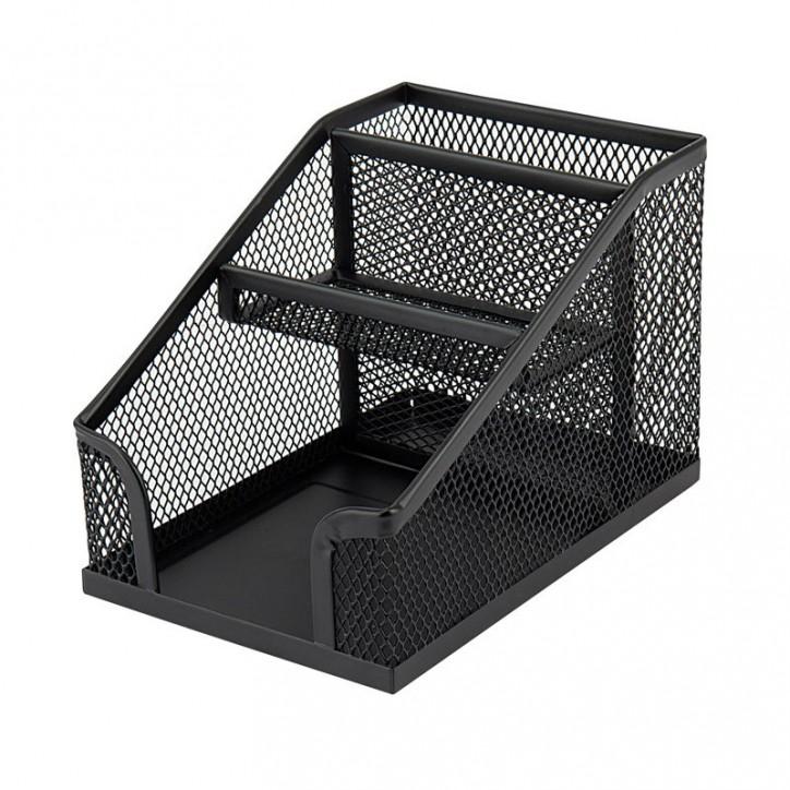Подставка-органайзер 100x143x100мм метал., черная