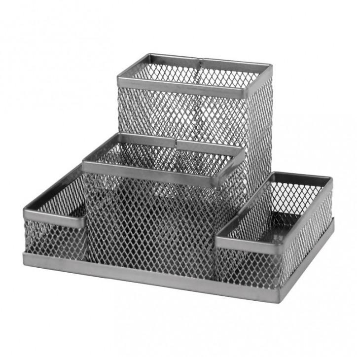 Подставка-органайзер 155x103x100мм метал, серебр