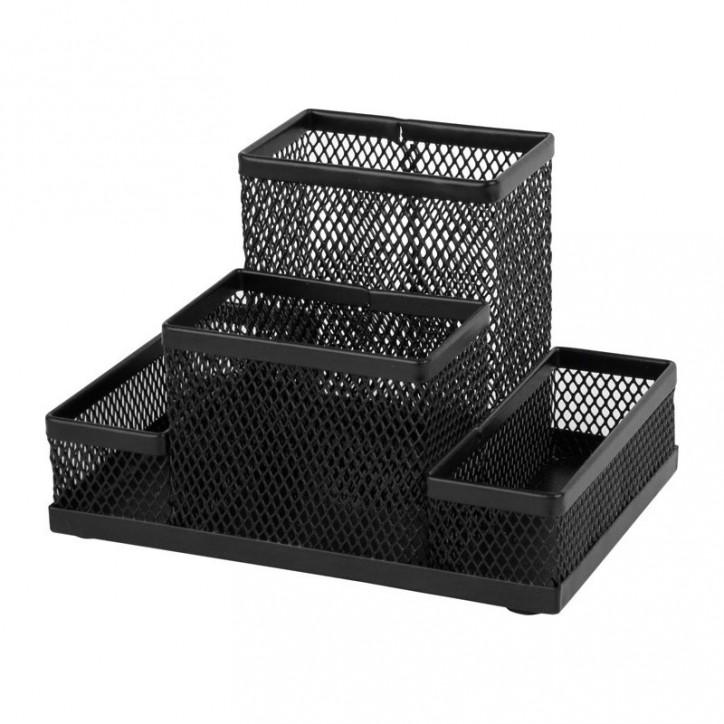 Подставка-органайзер 155x103x100мм метал, черная