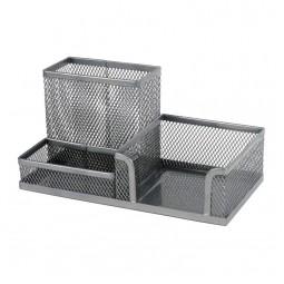 Подставка-органайзер 203x105x100мм метал, серебр