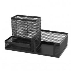 Подставка-органайзер 203x105x100мм метал, черн