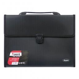 Портфель А4 на 3 отделения, черный