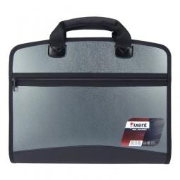 Портфель А4 на 4 отделения, серый металлик