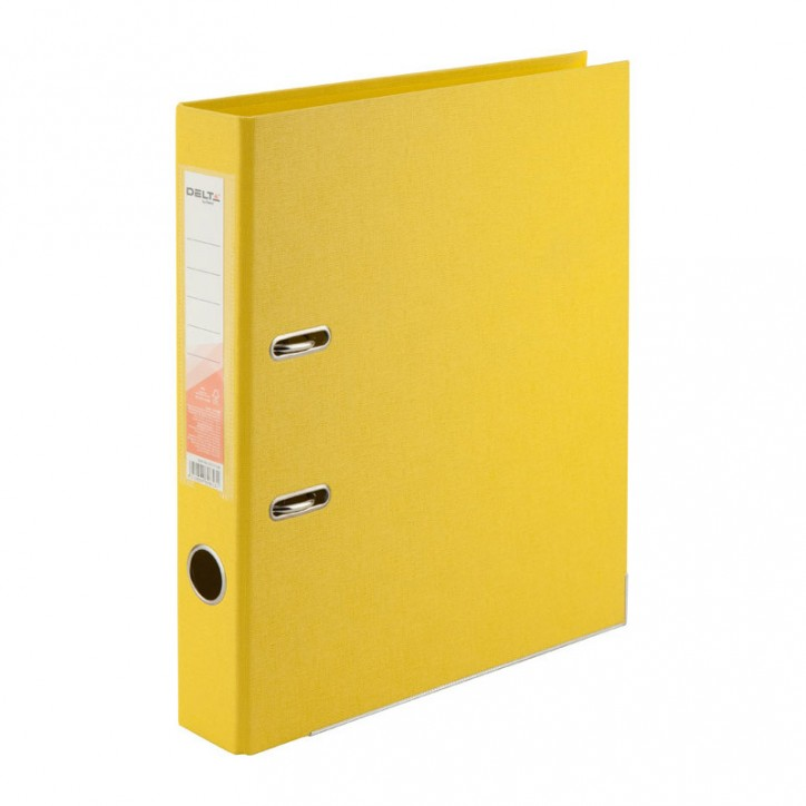 Регистратор двустор. 5 cм, собр, желт