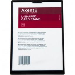 Табличка информационная L-образная, A6, черная