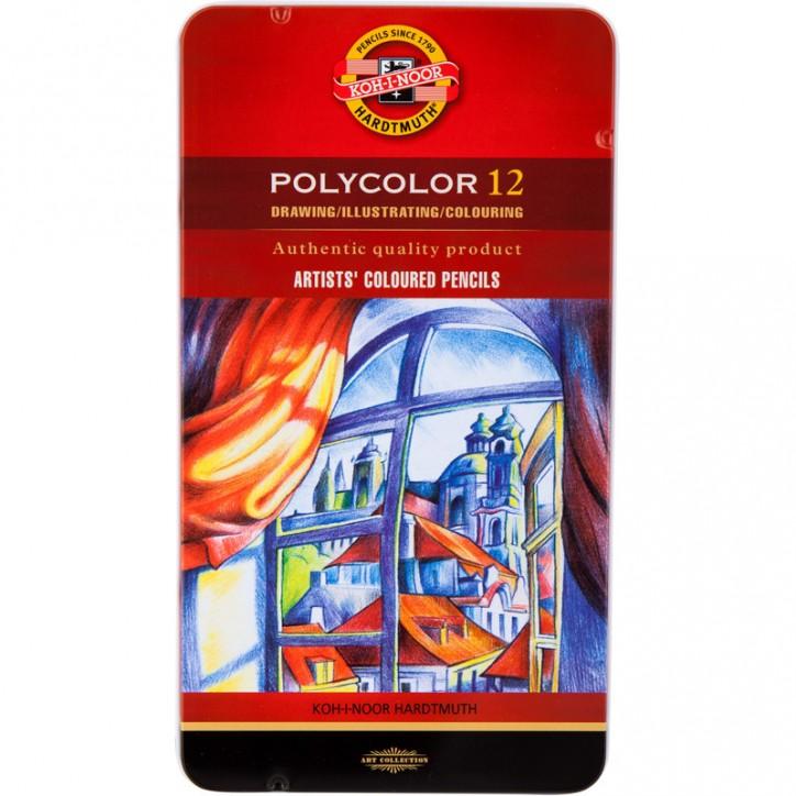 Художественные цветные карандаши POLYCOLOR, 12 цв.