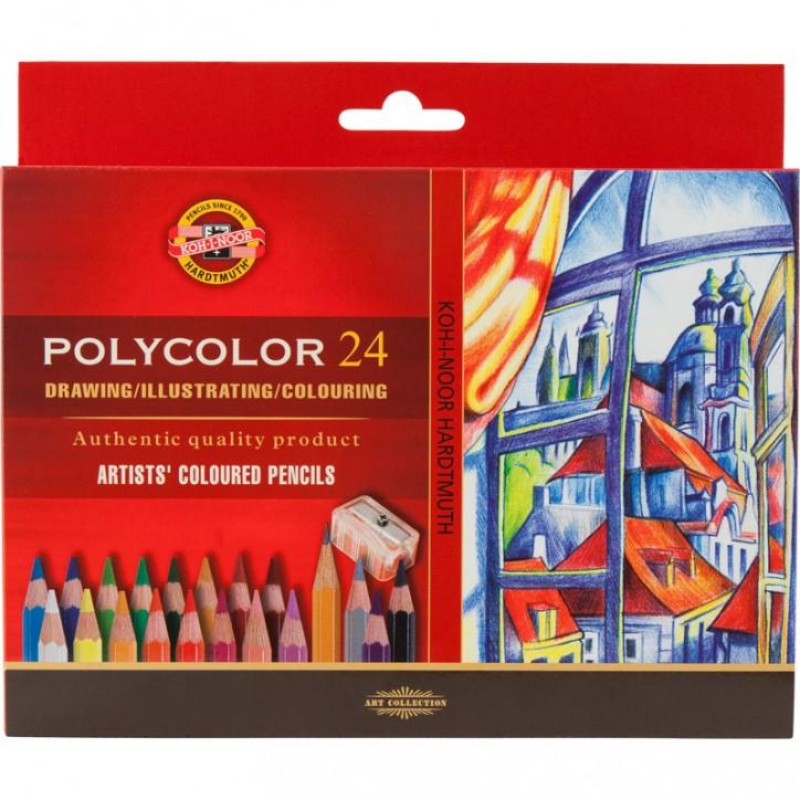 Художественные цветные карандаши POLYCOLOR, 24 цв. карт.уп.
