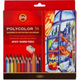 Художественные цветные карандаши POLYCOLOR, 36 цв., карт. уп