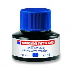 Чернила для заправки Permanent e-MTK25 синие