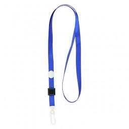 Шнурок для бейджа с пласт. карабином, синий, 4531