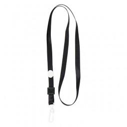 Шнурок для бейджа с пласт. карабином, черный, 4531