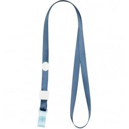 Шнурок для бейджа с силиконовим клипом, дымчатый синий 4551