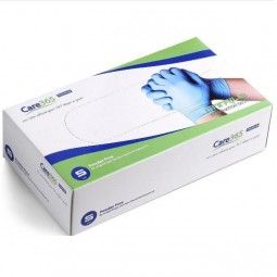 Перчатки нитриловые CARE-365 смотровые нестерильные без пудры 100шт(50пар), размер L