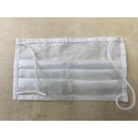 Одноразовая трехслойная защит. маска для лица на резинках, белая