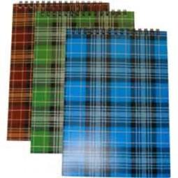 """Блокнот А5, 48 листов, """"Шотландка"""", в клеткау на спирали БА5.48-168"""