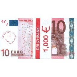 """Пачка денег (сувенир) 003 Евро """"10"""""""
